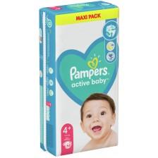 Бебешки пелени Pampers - Макси Плюс, 4+, 54 броя -1