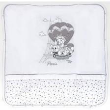 Памучно одеяло с пълнеж Bambino Casa - Paris, Bianco 80 х 85 cm -1