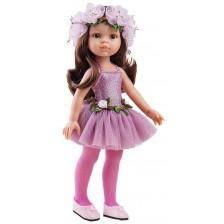 Комплект дрехи за кукла Paola Reina - Розово трико и розова тюлена пола, 32 cm -1
