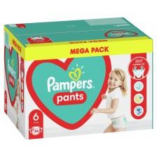 Бебешки пелени гащи Pampers 6, XL, 84 броя -1