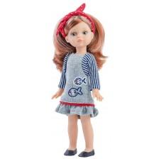 Кукла Paola Reina Mini Amigas - Паола, със сива рокля с дълъг ръкав, 21 cm -1