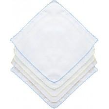 Памучни пелени Sevi Baby - Сини, 10 броя -1