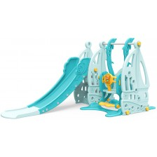 Пързалка с люлка Moni Garden - Coco, 172 cm, синя -1