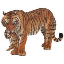 Фигурка Papo Wild Animal Kingdom – Тигрица с малко тигърче -1