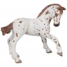 Фигурка Papo Horses, Foals And Ponies – Конче, порода Апалуза, кафяво -1