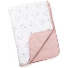 Памучно одеяло Doomoo - Dream, 75 x 100 cm, Spring pink -1