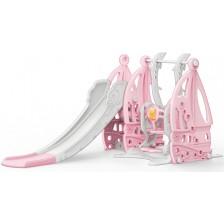 Пързалка с люлка Moni Garden - Coco, 172 cm, розова -1