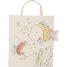 Памучна торба за оцветяване Goki - Риба -1