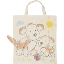 Памучна торба за оцветяване Goki - Куче -1