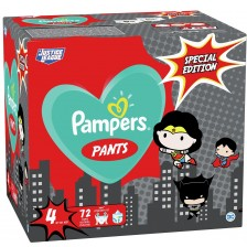 Пелени гащи Pampers Pants Warner Bros 4, 72 броя -1