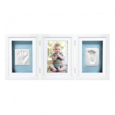 Луксозна рамка за снимка и отпечатък за бюро Pearhead - бяла -1