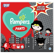 Пелени гащи Pampers Pants Warner Bros 6, 60 броя -1