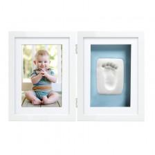 Рамка за снимка и отпечатък за бюро Pearhead - бяла -1