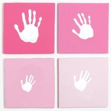Сет за отпечатък за стена Pearhead - розов -1