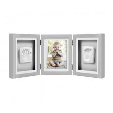 Луксозна рамка за снимка и отпечатък за бюро Pearhead - сива -1