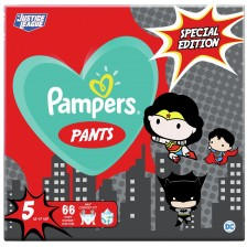 Пелени гащи Pampers Pants Warner Bros 5, 66 броя -1
