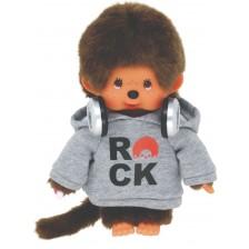 Плюшена играчка Monchhichi - Маймунка, Rock Hoodie, 20 cm -1