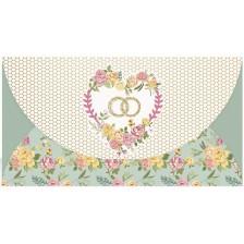 Плик за пари за сватба Busquets - Сватбени пръстени -1