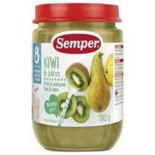 Плодов десерт Semper - Круши и киви, 190 g -1