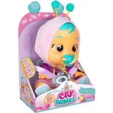 Плачеща кукла със сълзи IMC Toys Cry Babies - Вайлет -1