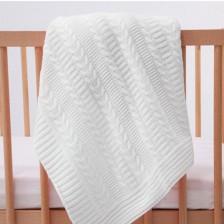 Плетена пелена Mycey - 90 х 100 cm, бежова -1