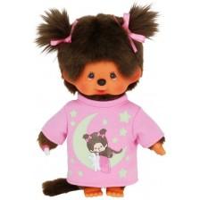 Плюшена играчка Monchhichi - Маймунка, със светеща в тъмното блузка, 20 cm -1