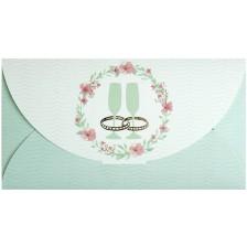 Плик за пари за сватба Busquets - Сватбени чаши, зелена -1