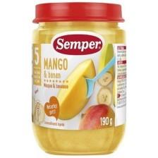 Плодово пюре Semper -  Манго с банани, 190 g -1