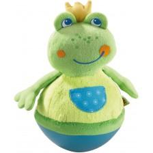 Плюшена играчка Haba - Клатушкаща се жабка -1