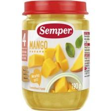 Плодово пюре Semper - Манго, 190 g -1
