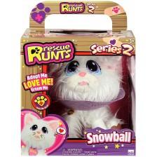 Плюшена играчка Rescue Runts Спаси животинчето - Snowball -1