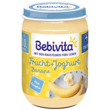 Плодово пюре йогурт Bebivita – Банан, 190 g, вид 1