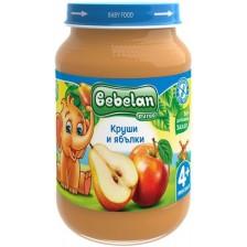 Плодово пюре Bebelan Puree -  Круши и ябълки, 190 g