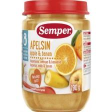 Плодов десерт Semper - Портокал, ябълка и банан, 190 g -1