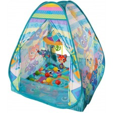 Музикална активна гимнастика Playgro - Типи палатка, с топки -1