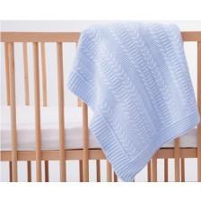 Плетена пелена Mycey - 90 х 100 cm, синя -1