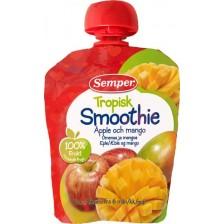 Плодово смути Semper -  Ябълка и манго, 90g