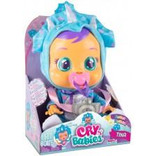 Плачеща кукла със сълзи IMC Toys Cry Babies - Тина, динозавърче -1