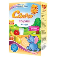 Плодово-млечна каша Слънчо - Асорти, 200 g -1