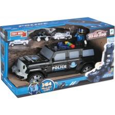 Полицейски джип Zhorya - Six Six Zero, с 3 коли и фигурка -1