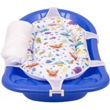 Подложка за къпане с възглавница Sevi Baby - Морски животинки -1