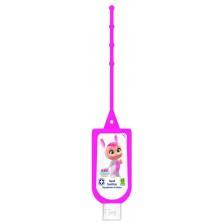 Почистващ гел със закачалка Air-Val -  Cry babies, розов, 60 ml  -1