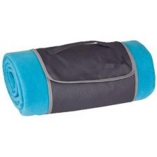 Поларено одеяло за пикник EKO - Синьо -1