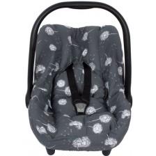 Протектор за стол за кола с предпазител за кръста Sevi Baby - Глухарчета -1