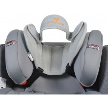 Протектор за глава за столче за кола Cangaroo - Shelter, сив -1