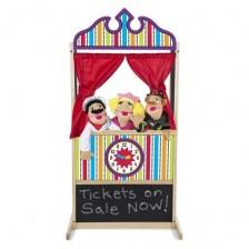 Дървен настолен куклен театър Melissa & Doug -1