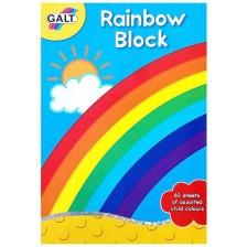 Блокче с цветни хартии Galt – Дъга -1