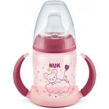 Преходна чаша Nuk - Glow in the Dark, розова, 150 ml -1