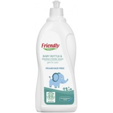 Препарат за ръчно измиване Friendly Organic - За бебешки съдове, 750 ml  -1