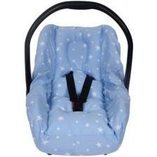 Протектор за стол за кола с предпазител за кръста Sevi Baby - Сини звезди -1